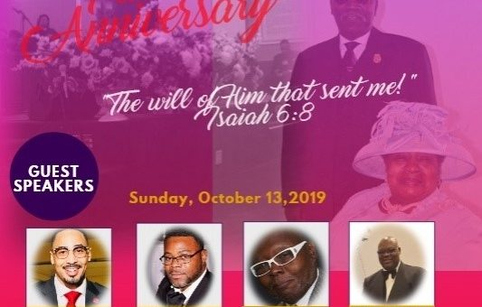 41st Pastoral Anniversary Guest Speakers